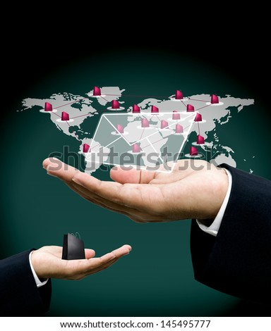 Owner get email from customer, Online shopping business concept - stock photo