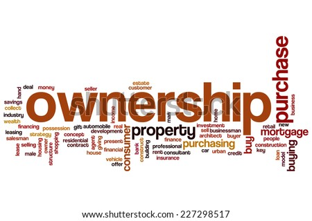 Ownership word cloud concept - stock photo