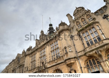 Oxford town centre building in the Gothic style, Oxfordshire, England. - stock photo