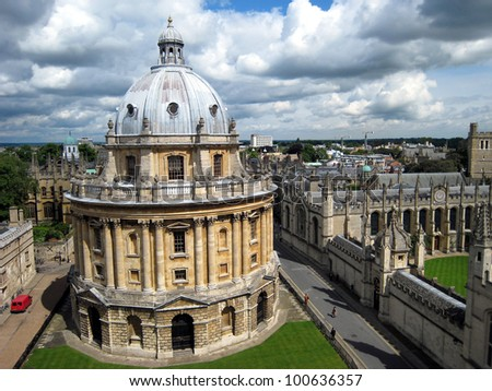 Oxford University skyline - stock photo