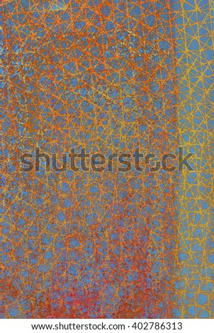 oxidized material - close up of a textured oxidized surface