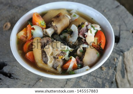 oxtail soup food from asia - stock photo