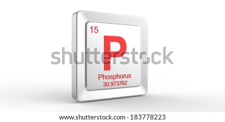 P symbol 15 material for Phosphorus chemical element of the periodic table - stock photo