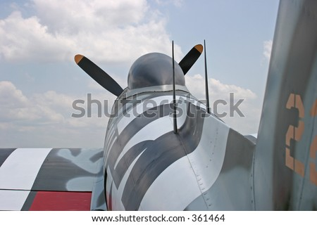 P-47 Thunderbolt World War II fighter aircraft - stock photo