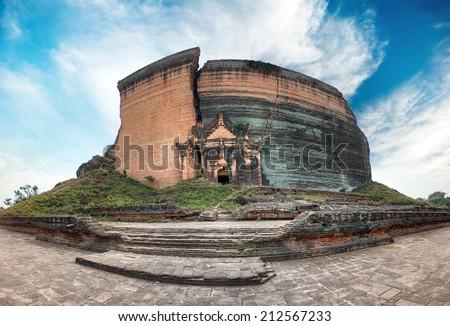 Pa Hto Taw Gyi Mingun pagoda in Mandalay, Myanmar (Burma) - stock photo