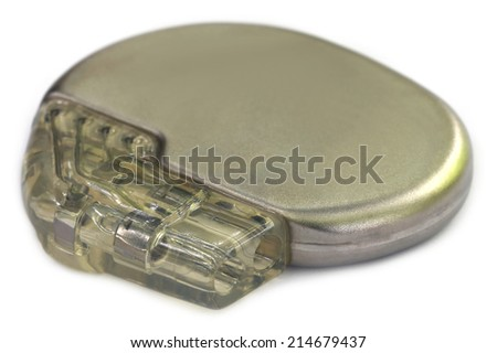 Pacemaker Over white background - stock photo