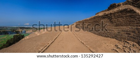 Pachacamac ruins in Lima, Peru. - stock photo
