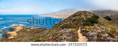 Pacific coastline, California, USA, Highway one - stock photo