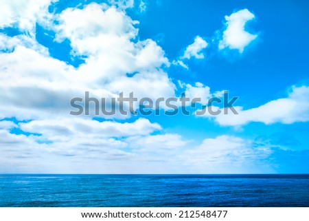 Pacific Ocean Cloudscape - stock photo