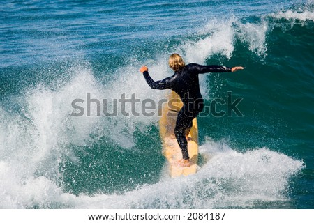 Pacific surfer - stock photo