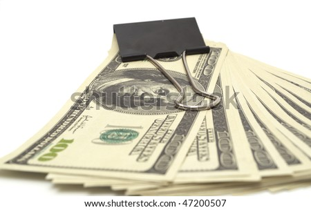 pack dollars isolated on white background - stock photo