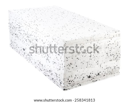 Pack of insulation styrofoam panels with graphite additive - stock photo