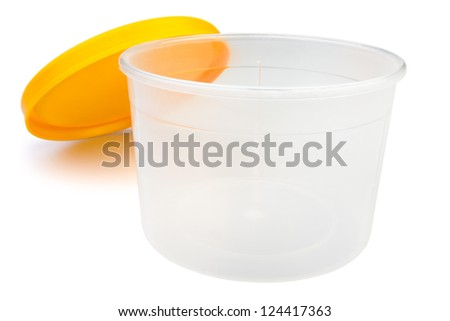 package food on white background - stock photo