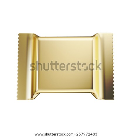 Packaging for sweets, wafers, biscuits isolated on white background. 3d illustration. - stock photo