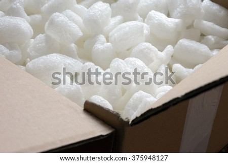 Packaging material for sensitive goods / Packaging material - stock photo