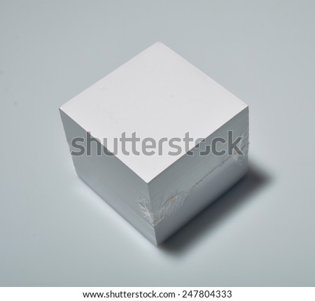 Packed block of note paper - stock photo