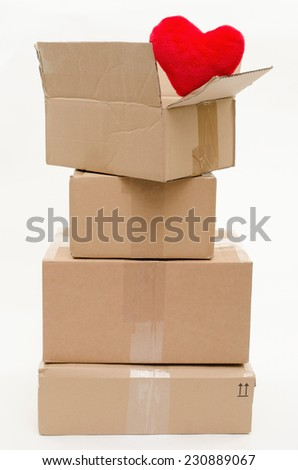 packed with love - stock photo