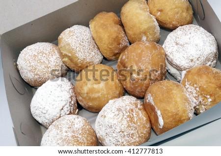 Paczki's A Dozen, For Fat Tuesday - stock photo