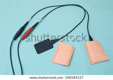 Pad electrode,medical equipment for electrical stimulator  - stock photo