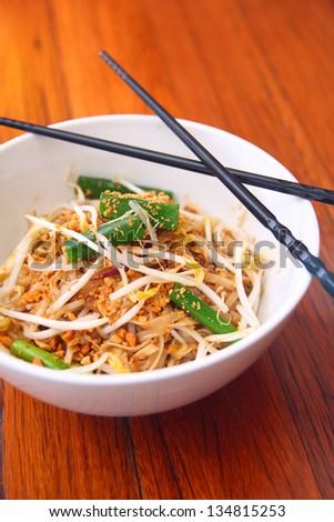 Pad thai, Thai signature dish. - stock photo
