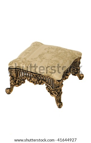 Padded Foot Stool - stock photo