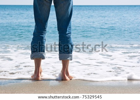 paddle in the sea - stock photo