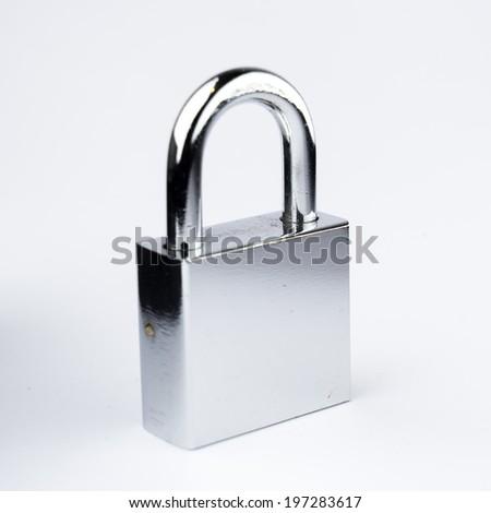 Padlock and Key lock  - stock photo