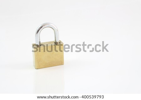 Padlock isolated on white background, clipping path included. - stock photo