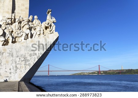 Padrao dos Descobrimentos (Monument of the Discoveries) in Lisbon, Portugal - stock photo
