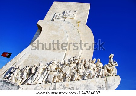 Padrao dos Descobrimentos (Monument to the Discoveries) - stock photo