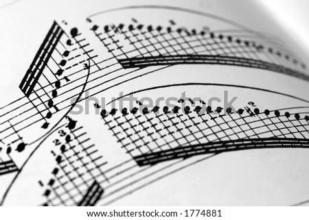 Paganini score - technical madness - stock photo