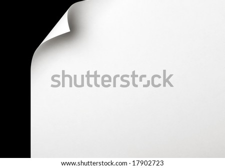 page curl 3 - stock photo
