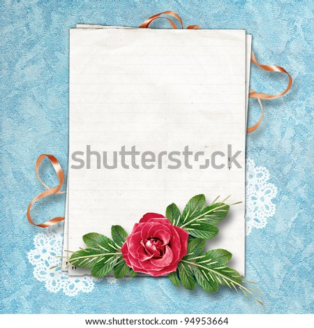 Page for a photo on the abstract background with a lace. - stock photo