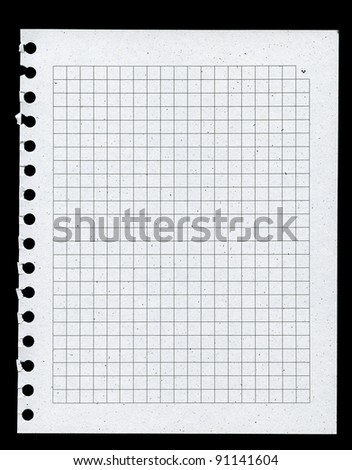 Page from notebook, paper made from recycled materials - stock photo