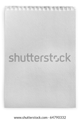page  isolated on white - stock photo