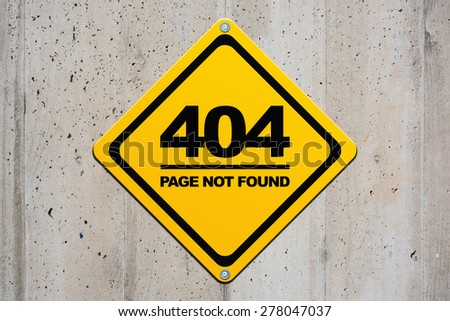 Page not found - 404 - stock photo