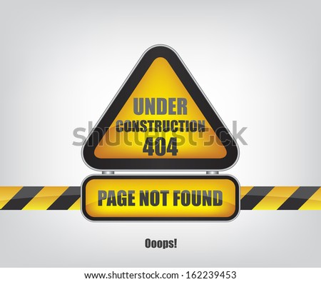 Page not found error 404 - stock photo