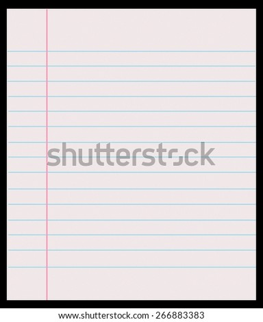 page notebook on a black background - stock photo