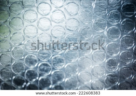Page of Large Clear Bubbles on bubblewrap packaging material - stock photo