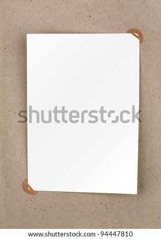 Page of vintage photo album with photo frames - stock photo