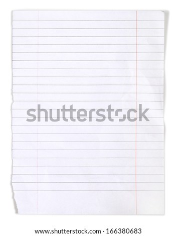 page ripped off from the notebook  - stock photo