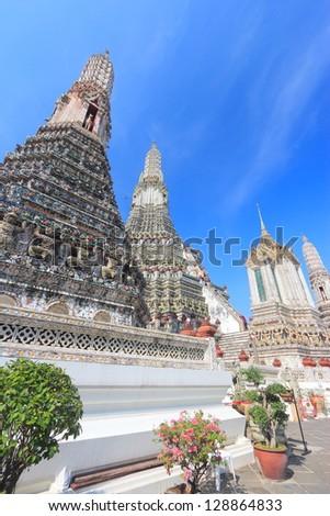 Pagoda in Wat Arun Temple, Bangkok, Thailand - stock photo