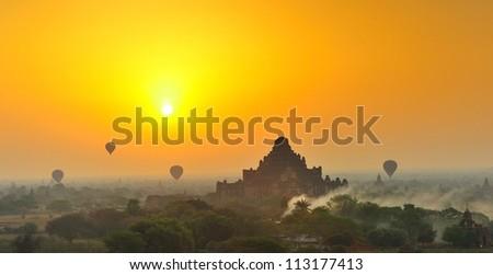 pagoda myanmar - stock photo