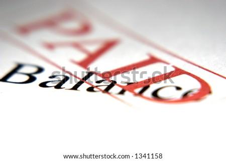 Paid Balance - stock photo