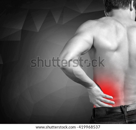 Pain. - stock photo
