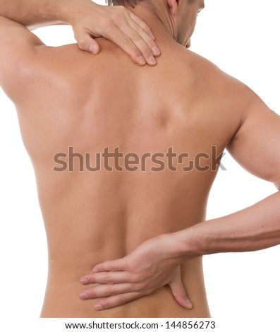 Pain concept.isolated on white background - stock photo