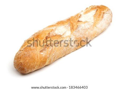 Pain de campagne longue, French artisan bread loaf. - stock photo