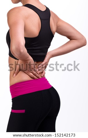Pain in a back - stock photo