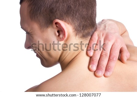 Pain in the back - stock photo