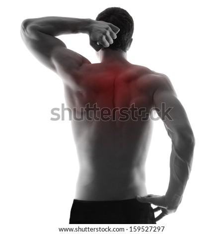 Pain.Man body - stock photo
